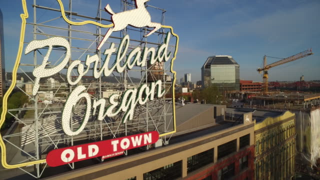 portland oregon sign - portland oregon stock videos & royalty-free footage