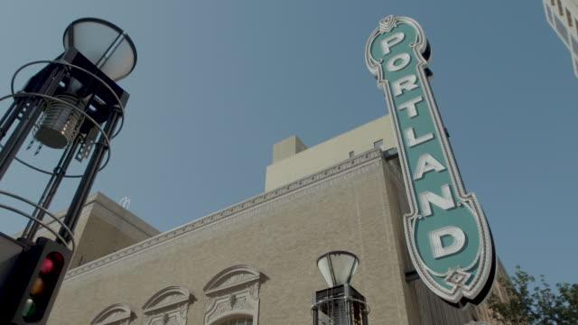 portland paramount theater_portland oregon_exterior - concert hall stock videos & royalty-free footage