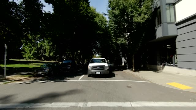 portland suburb xxi synced series rear view driving process plate - portland oregon summer stock videos & royalty-free footage