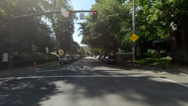portland suburb xxi synced series right view driving process plate - portland oregon summer stock videos & royalty-free footage