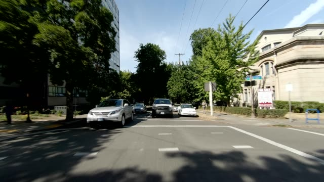 portland suburb xxii synced series rear view driving process plate - portland oregon summer stock videos & royalty-free footage