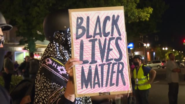 portland this weekend marks 100 days since protests erupted in the western us city to denounce police brutality and racism shining a spotlight on a... - refraction stock videos & royalty-free footage