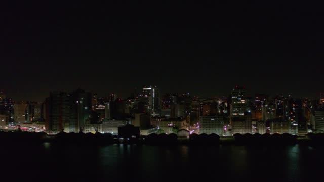 porto alegre city at night - alegre stock videos & royalty-free footage