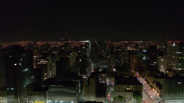 porto alegre city at night - stato di rio grande do sul video stock e b–roll