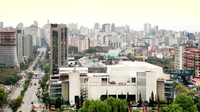 porto alegre in brasile - stato di rio grande do sul video stock e b–roll