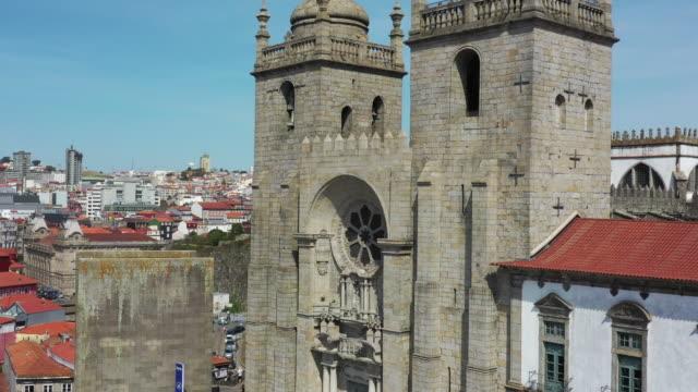 vídeos de stock e filmes b-roll de porto cathedral / porto, portugal - catedral