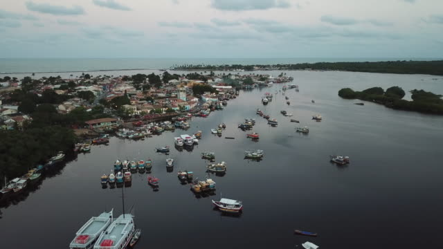 porto seguro harbor, in bahia state, brazil - porto seguro stock videos & royalty-free footage