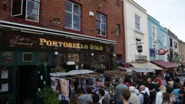 vídeos de stock e filmes b-roll de portobello road market portobello gold shop on october 01 2012 in london england - portobello