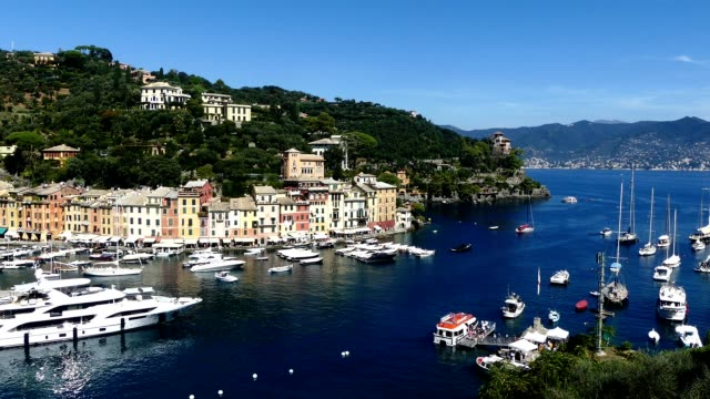 portofino aus sicht - region provence alpes côte d'azur stock-videos und b-roll-filmmaterial