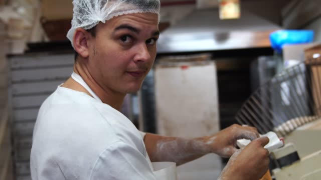 portrait of a baker - baker occupation stock videos and b-roll footage