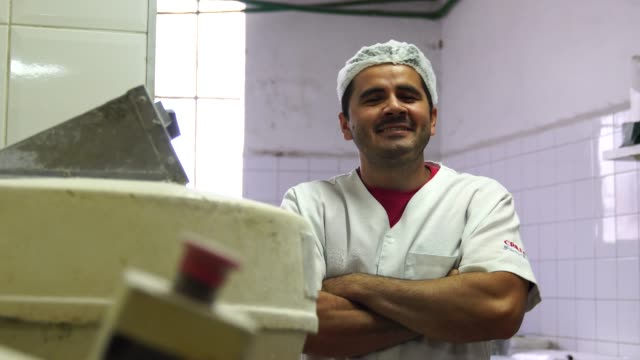 portrait of a baker - portuguese culture stock videos & royalty-free footage