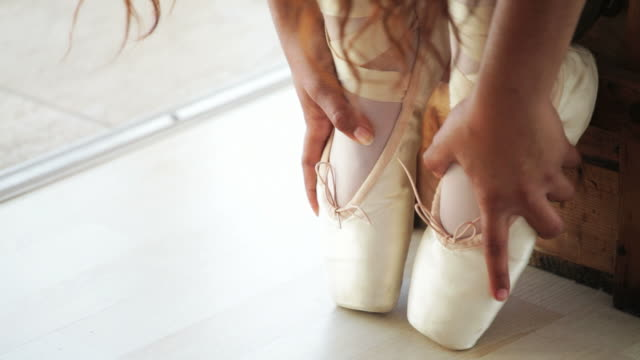 portrait of a ballerina - ballet shoe stock videos and b-roll footage