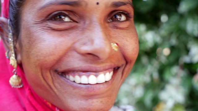 portrait of a beautiful indian woman - religion stock videos & royalty-free footage