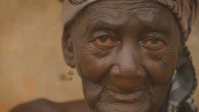 Portrait of a beautiful old african woman