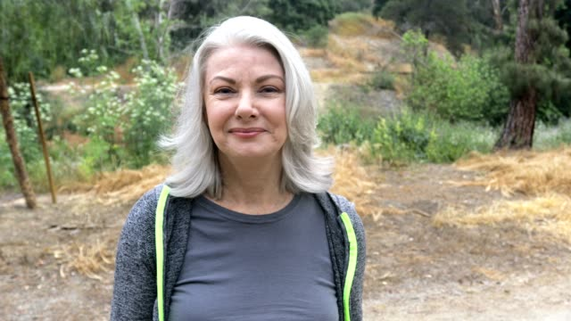 portrait of a beautiful senior woman with white hair - white hair stock videos & royalty-free footage