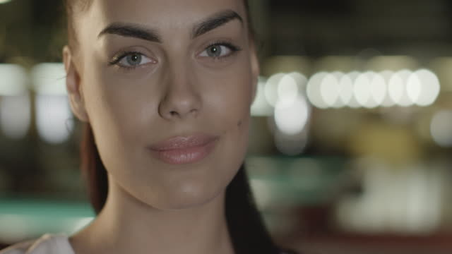 portrait of a beautiful woman in the pub - green eyes stock videos and b-roll footage