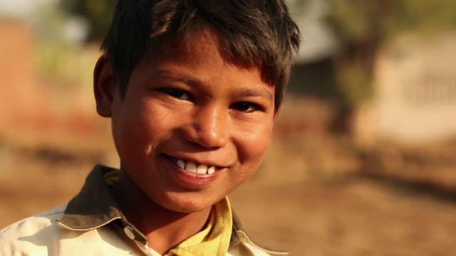 Portrait of a boy laughing, Ballabhgarh, Haryana, India