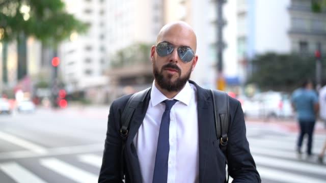 Portrait of a Business man at city