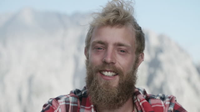 portrait of a climber in the alps - heroes stock videos & royalty-free footage