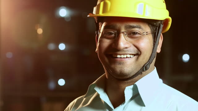 Portrait of a construction worker smiling