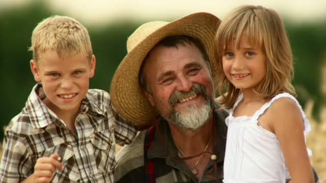 HD SLOW-MOTION: Portrait Of A Country Family