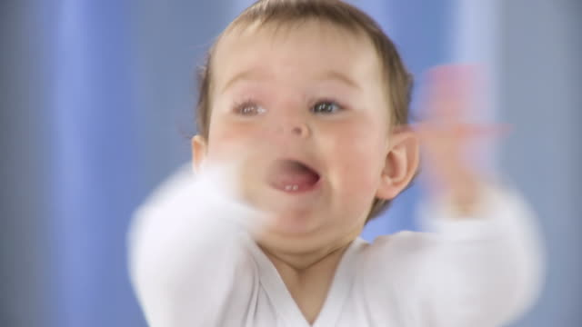 hd: portrait of a cute toddler - laughing stock videos & royalty-free footage