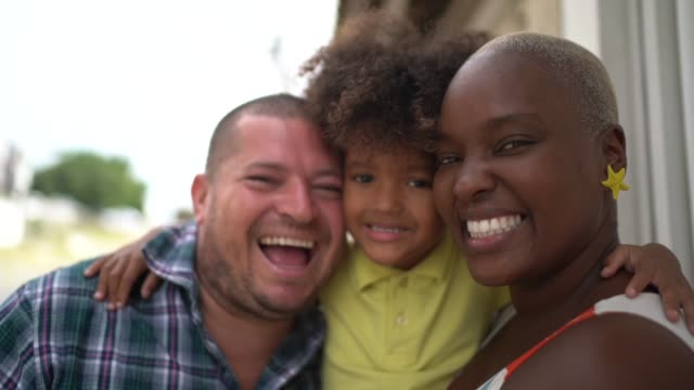 portrait of a family - mixed race person stock videos & royalty-free footage