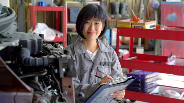 portrait of a female mechanic - only japanese stock videos & royalty-free footage