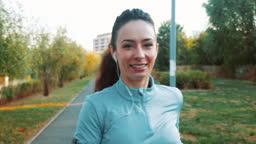 Portrait of a female runner.