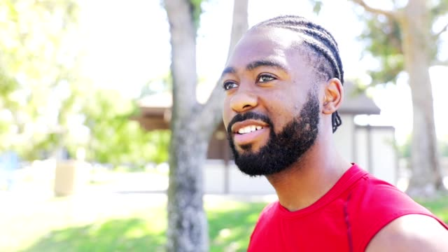 portrait of a fit black man - braided hair stock videos & royalty-free footage