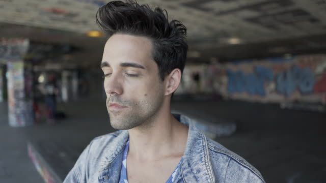 Portrait of a gay man.