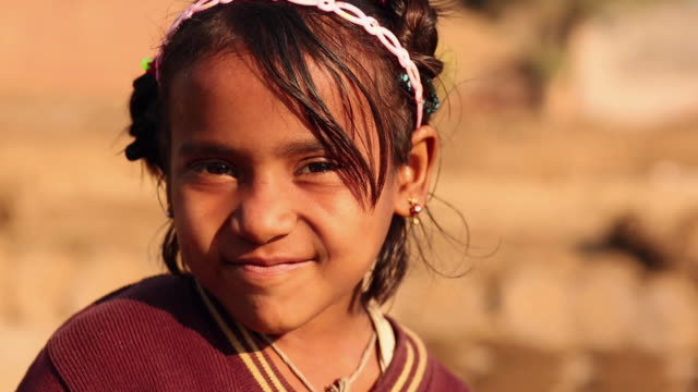 Portrait of a girl smiling, Ballabhgarh, Haryana, India