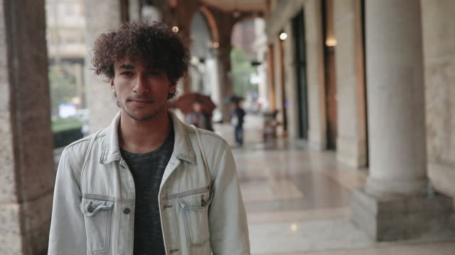 portrait of a handsome arabic man - mixed race person stock videos & royalty-free footage