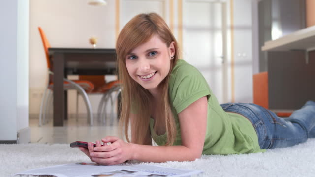 hd dolly: portrait of a happy teenage girl - only teenage girls stock videos & royalty-free footage