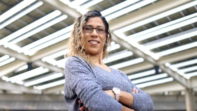 portrait of a hispanic businesswoman - head teacher stock videos & royalty-free footage