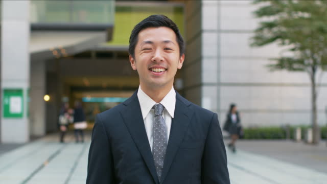 portrait of a japanese businessman - asia stock videos & royalty-free footage