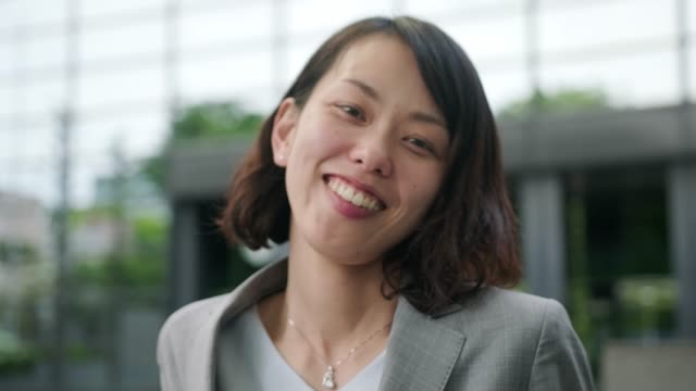 portrait of a japanese businesswoman - only japanese stock videos & royalty-free footage