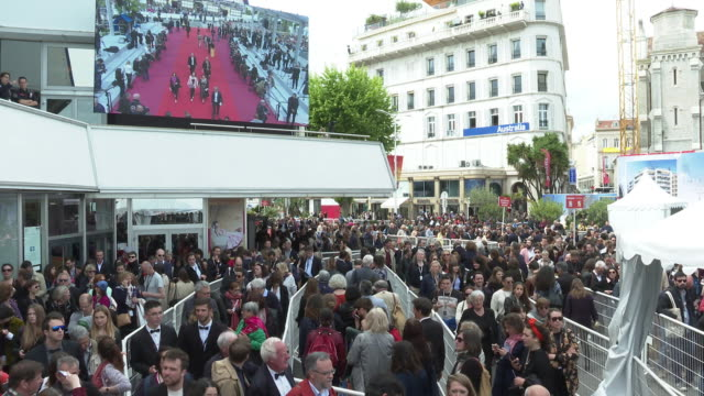 atmosphere 'portrait of a lady on fire ' red carpet arrivals the 72nd cannes film festival at palais des festivals on may 19 2019 in cannes france - fille de stock videos & royalty-free footage