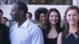 Portrait of a large business team