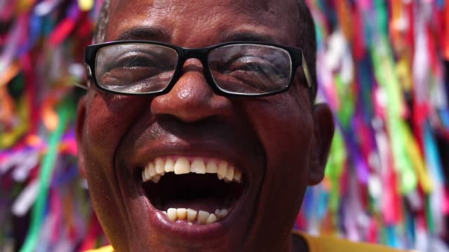 portrait of a latino man smiling - bahia state stock videos & royalty-free footage