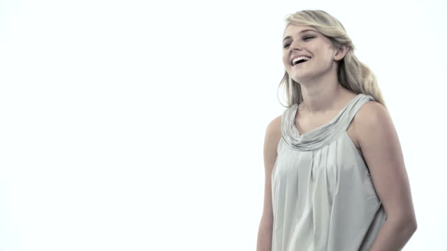 Portrait of a laughing blond woman