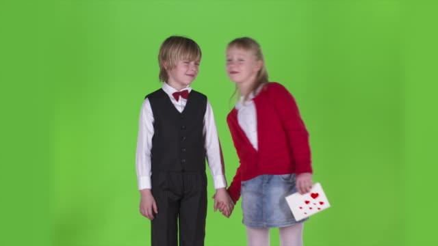 HD: Portrait Of A Little Couple In Love