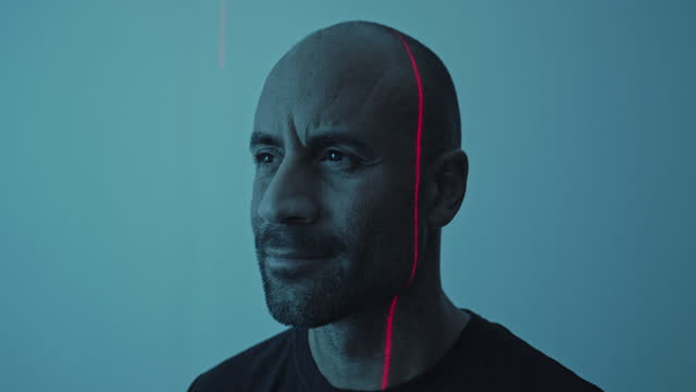 portrait of a man being medically scanned - laser stock videos & royalty-free footage