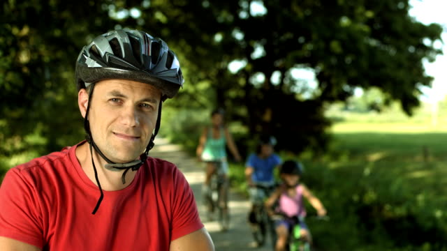 HD: Portrait Of A Man On Bicycle