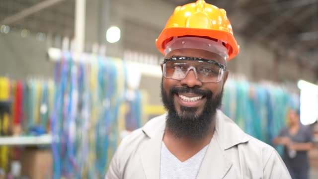 portrait of a man working in industry - manufacturing occupation stock videos & royalty-free footage