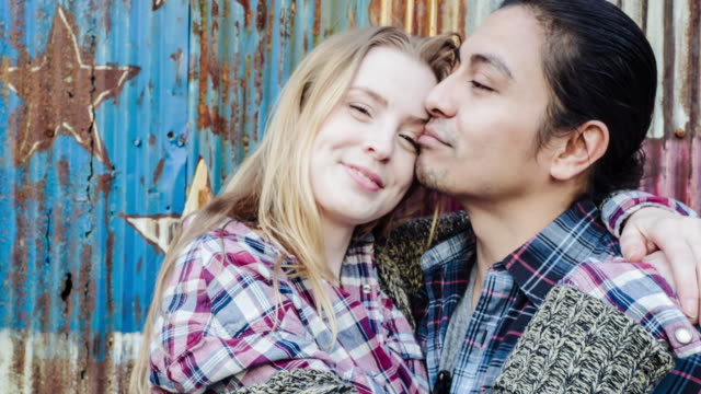 Portrait of a multi-ethnic couple in New York