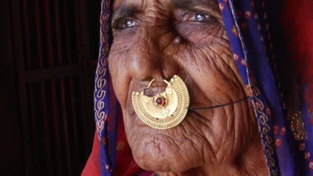portrait of a old senior woman - indian ethnicity stock videos & royalty-free footage