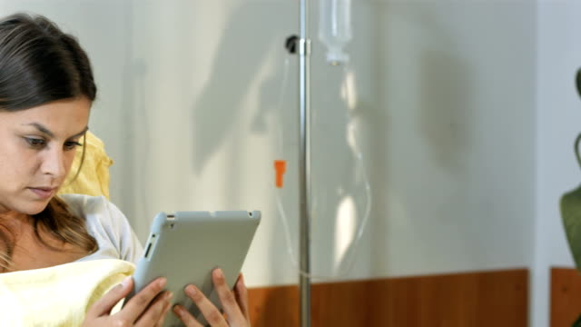 HD DOLLY: Portrait Of A Patient In Hospital