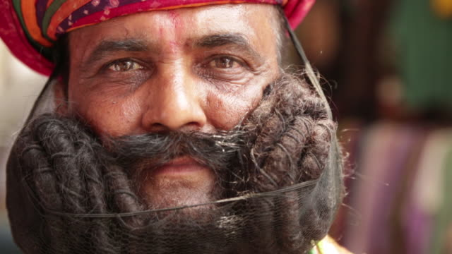 Portrait of a rajasthani man, Rishikesh, Uttarakhand, India