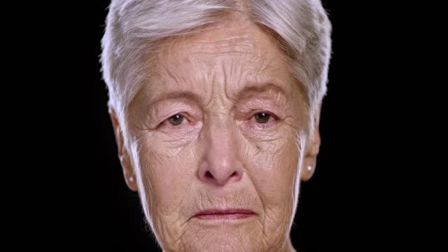 Portrait of a sad senior Caucasian woman